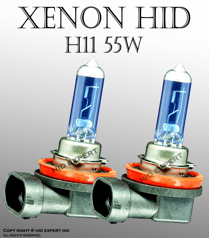 ICBEAMER H11 55W pair Low/ Fog Light Xenon HID Super White Replacement TG2308