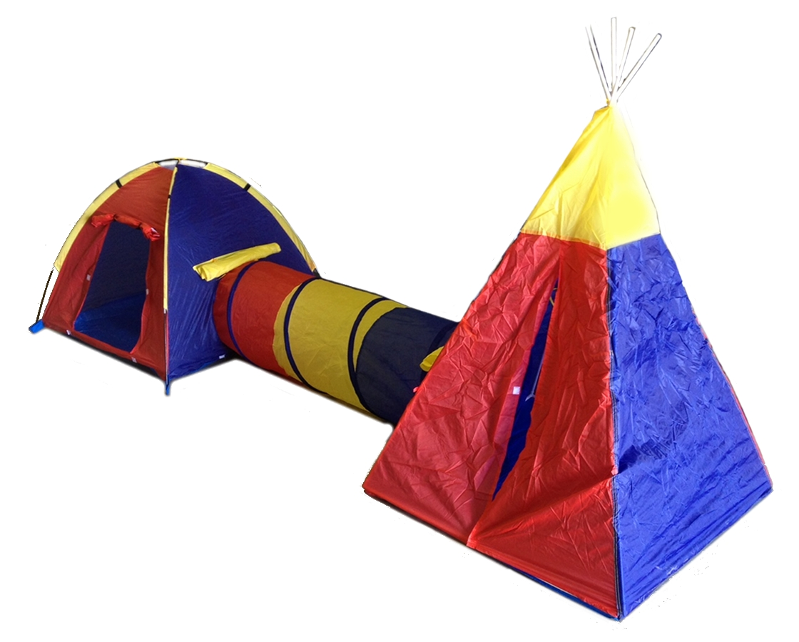 CHILDRENS PLAY TENT SET - 2 ROOMS TUNNELS FUN PLAYHOUSE CASTLE New | eBay