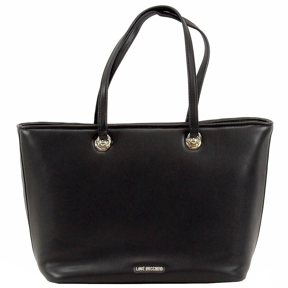 Love Moschino Women/'s Studded Heart Leather Tote Handbag
