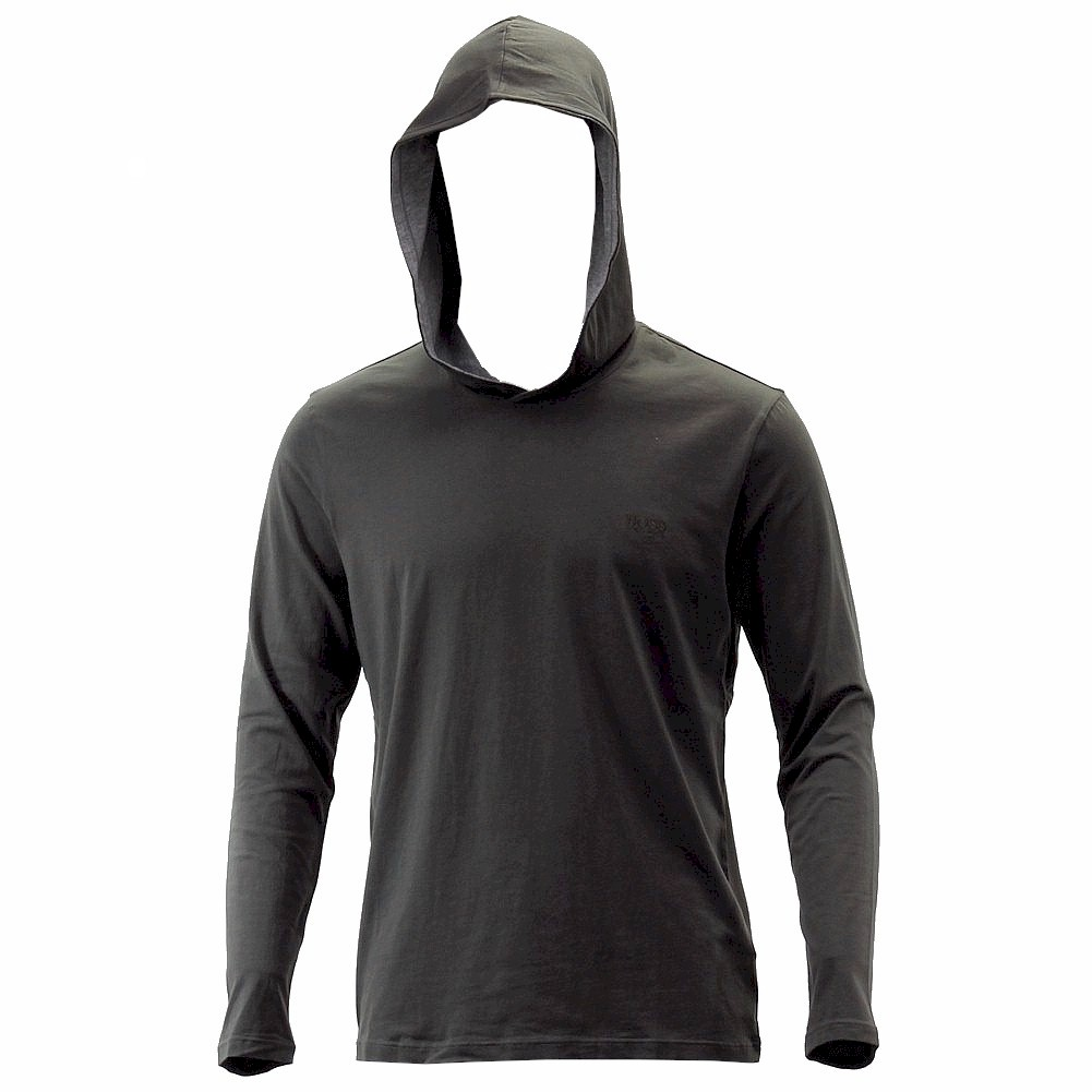 Hugo boss men 39 s long sleeve hooded t shirt ebay for Boys long sleeve shirt with hood