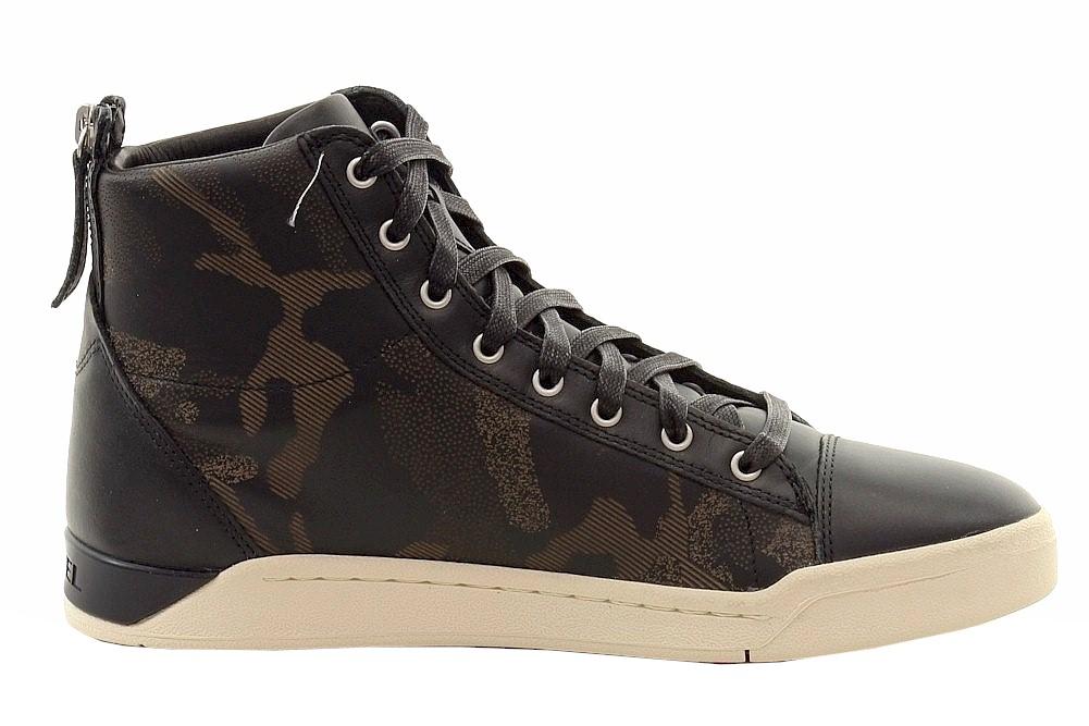 Diesel Men's Diamond Fashion High-Top Leather Sneakers ...