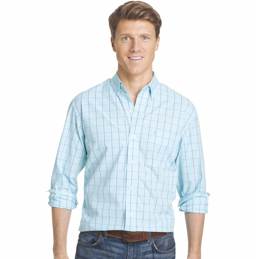 Izod men 39 s essential woven long sleeve button down for Izod button down shirts