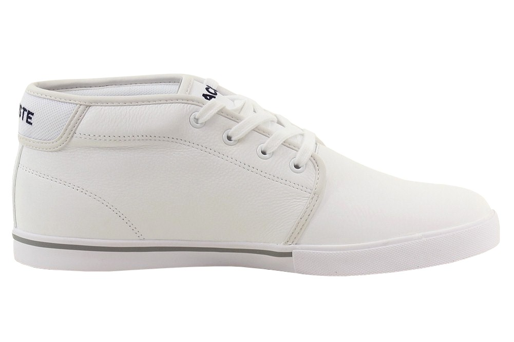 lacoste s thill lcr3 white leather chukka sneakers