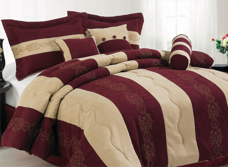 King Size Bedding Maroon