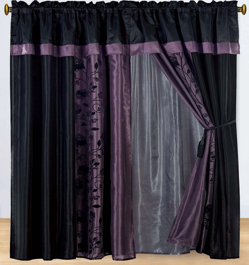 Curtains For Large Picture Windows Dark Purple Sheer Gloves