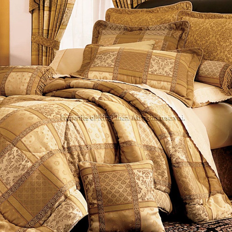 Gold Bedding Sets 28 Images Luxury Gold Jacquard Satin
