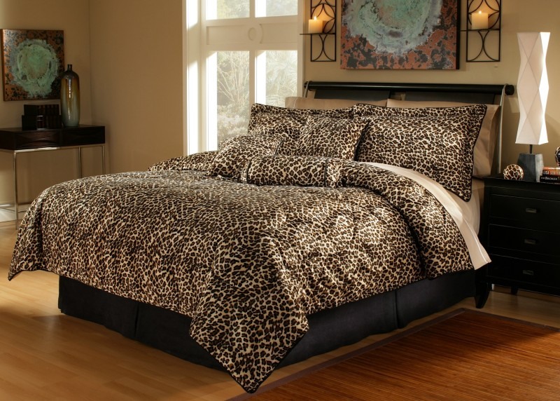 details about 5pcs twin xl extra long leopard bedding comforter set