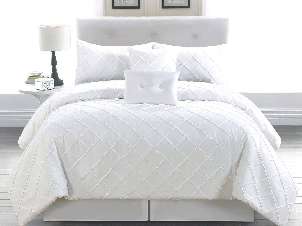 6 Piece Cal King Melia White Comforter Set Ebay