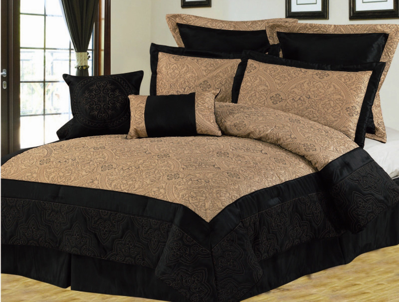 Target / Home / black and gold comforter () 8pc Graydon Chenille Jacquard Comforter Set Black/Gold. see low price in cart. Choose options. Charlotte Jacquard Complete Multiple Piece Comforter Set - 12 Piece. out of 5 stars with 24 reviews.