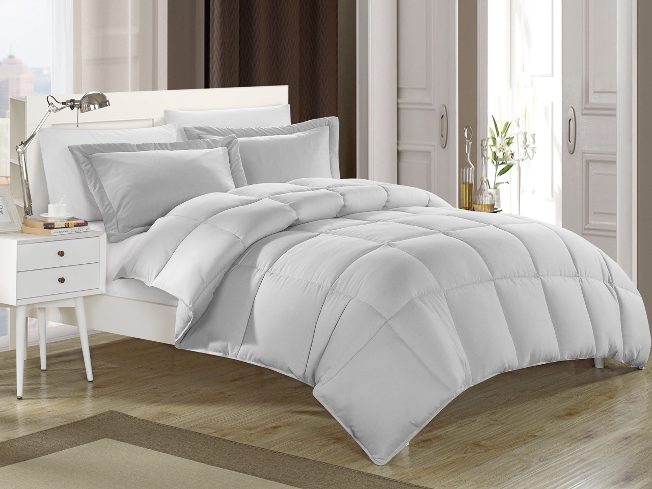 kinglinen down alternative comforter set ebay. Black Bedroom Furniture Sets. Home Design Ideas