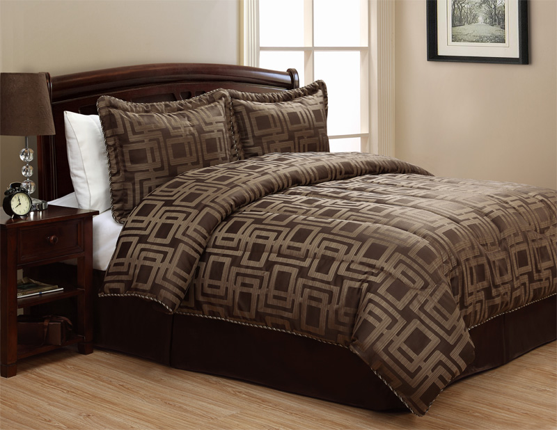 4pcs Queen Jordan Coffee Jacquard Comforter Bedding Set Ebay Iphone Wallpapers Free Beautiful  HD Wallpapers, Images Over 1000+ [getprihce.gq]