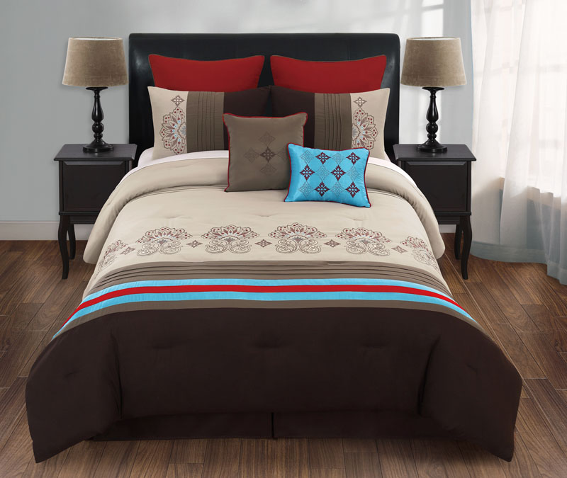 12 piece queen morocco bed in a bag set ebay. Black Bedroom Furniture Sets. Home Design Ideas
