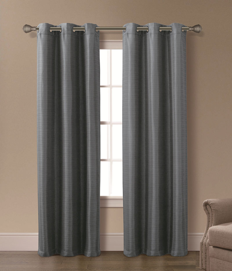Plum curtain panels