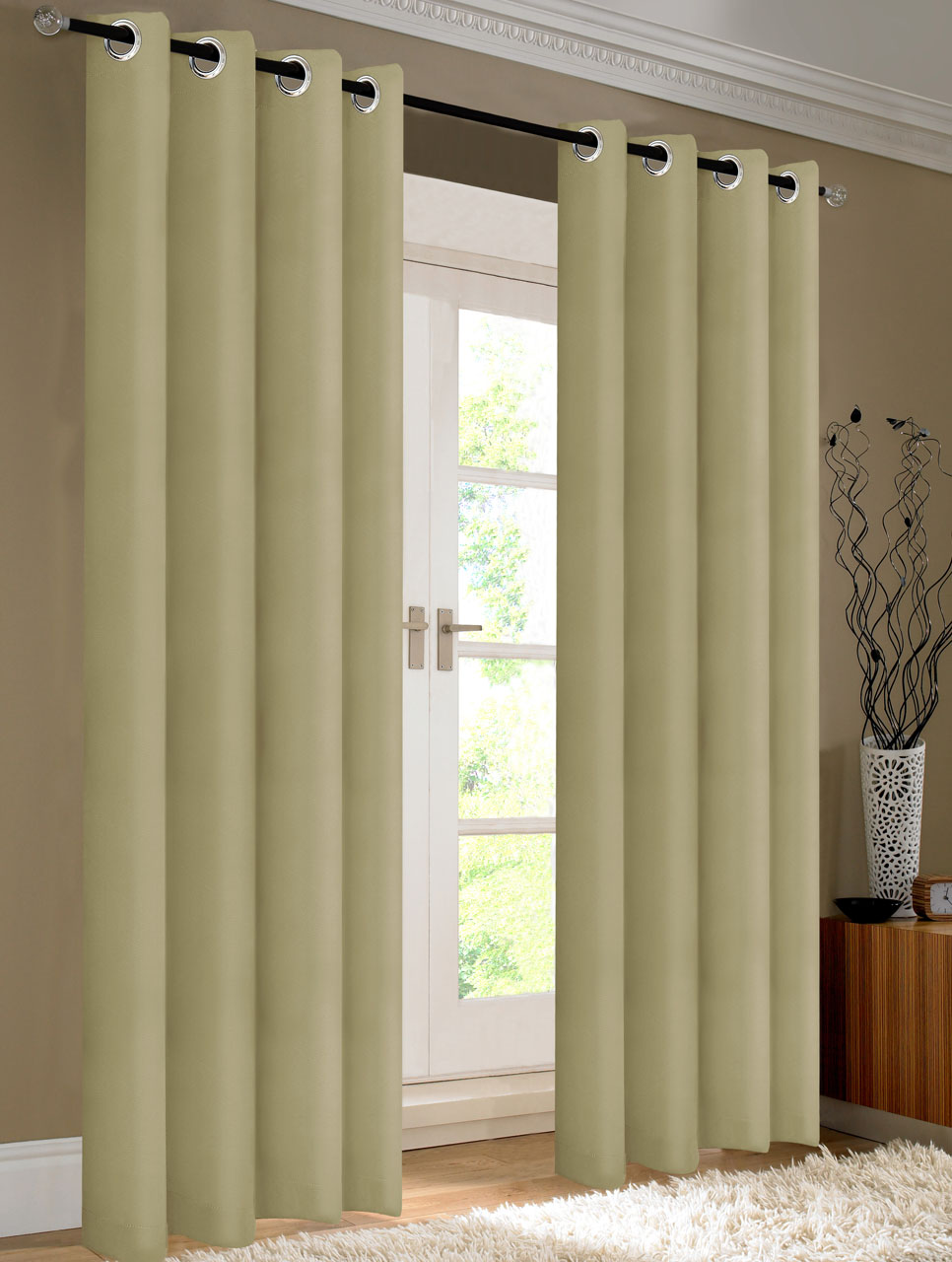 Pair Of Kevin Window Curtain Panels W Grommets