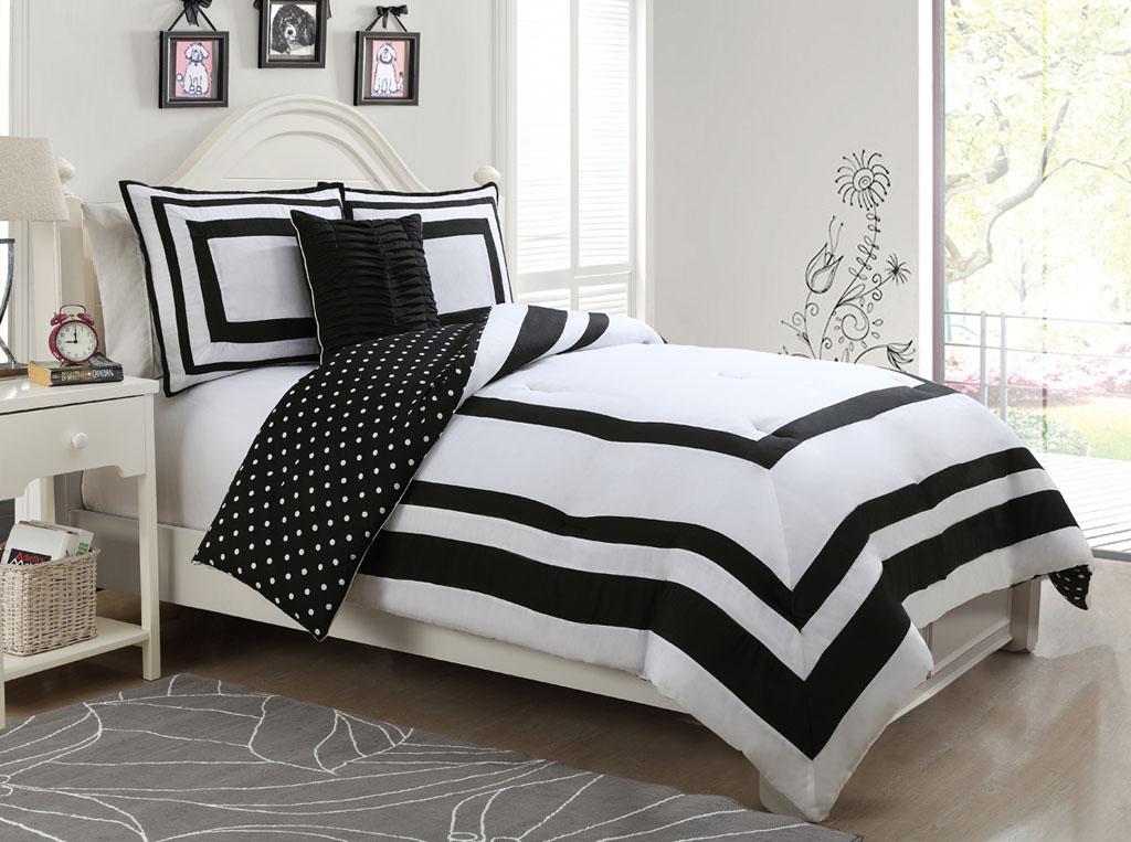 hotel juvenile reversible polka dot comforter set. Black Bedroom Furniture Sets. Home Design Ideas