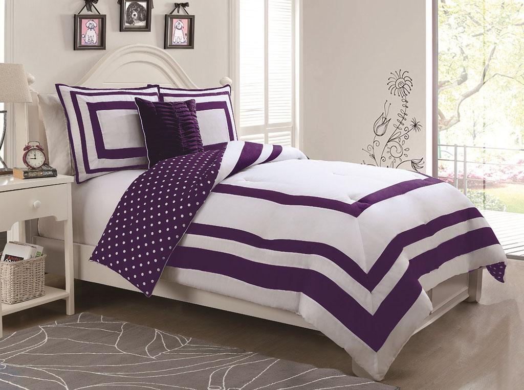 Hotel Juvenile Reversible Polka Dot Comforter Set