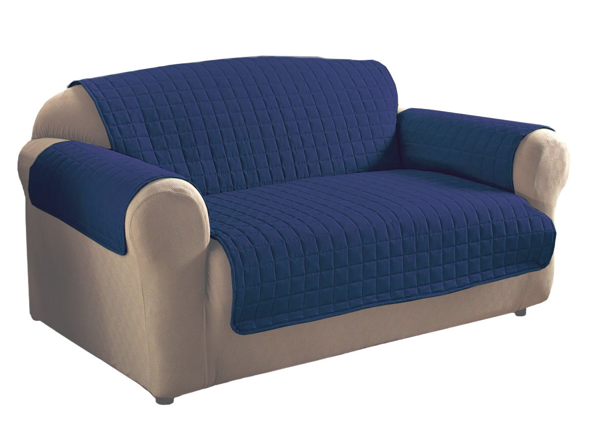 Navy blue microfiber sofa protector ebay for Navy blue microfiber sectional sofa