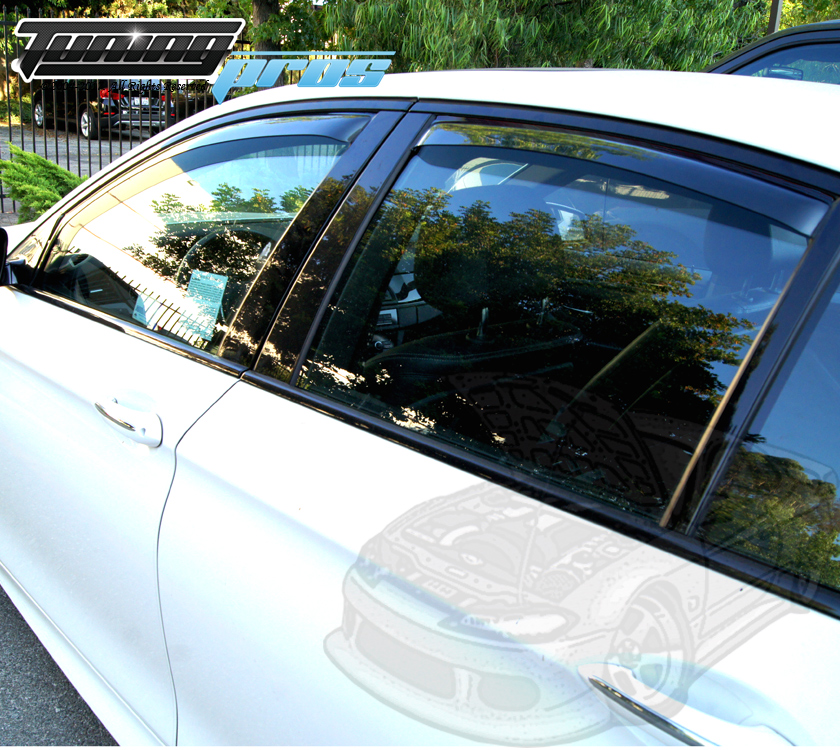 Light Tint In-Channel Window Visors 4pc For Chevrolet Tahoe 2007-2014