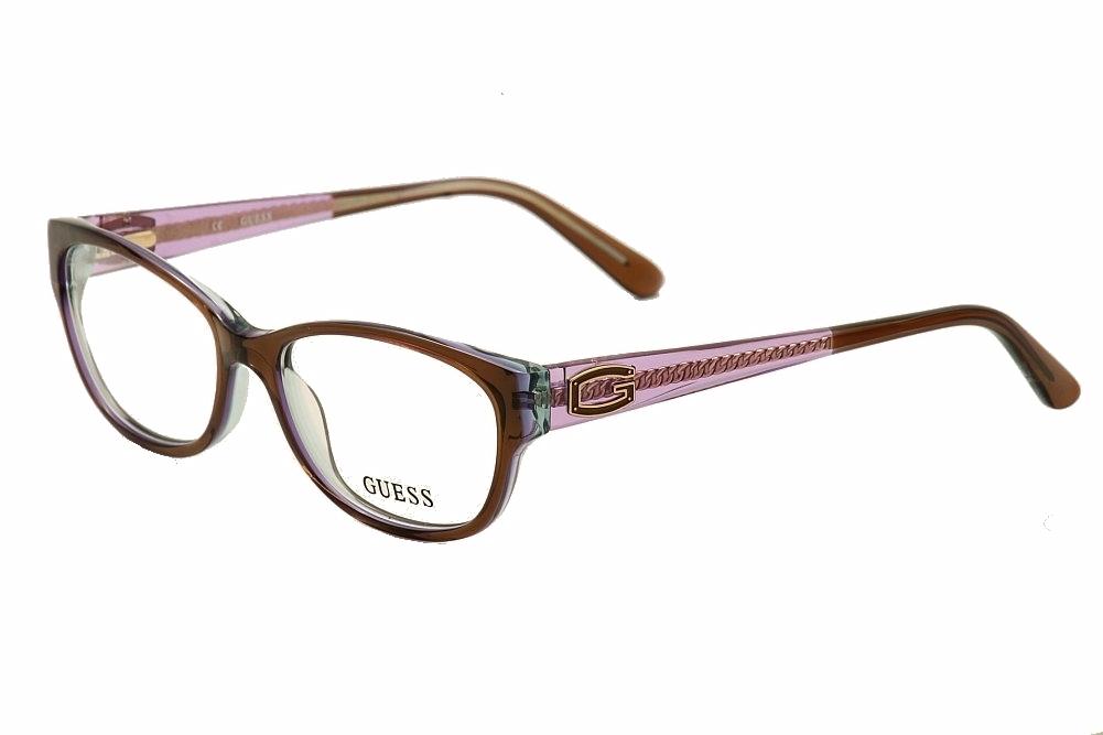 Guess Ladies Eyeglass Frames : Guess Womens Eyeglasses GU2372 GU/2372 BRN Brown Purple ...