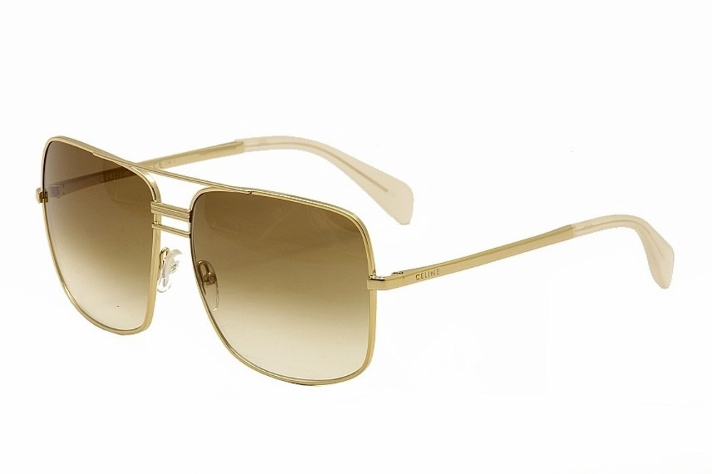 Gold Frame Celine Sunglasses : Celine Womens 41808S 41808/S J5G/XY Gold/Smoke Flash ...