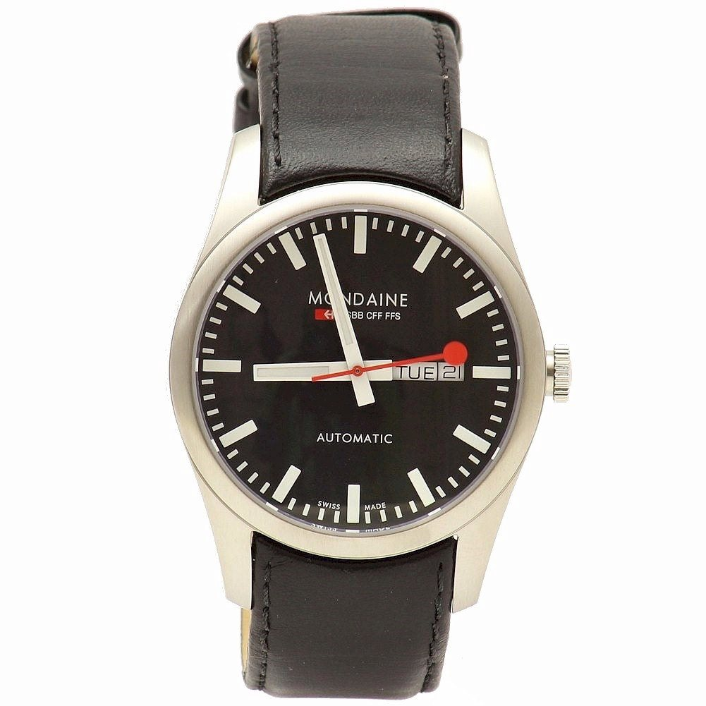 Mondaine Automatic A132 30345 14sbb Black Leather Analog