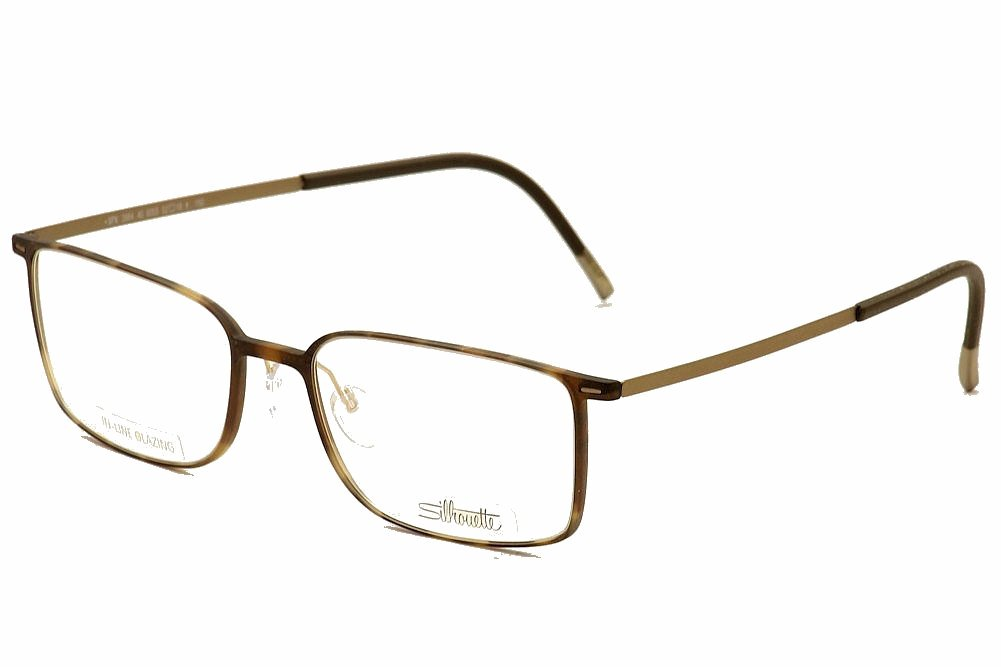 silhouette eyeglasses urban lite 2884 6055 tortoise optical frame 54x19x155