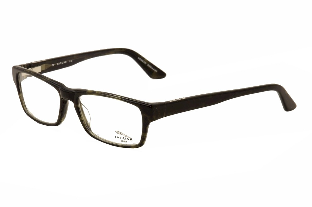 Jaguar Glasses Frame : Jaguar Eyeglasses 39105 6326 Black/Olive Full Rim Optical ...