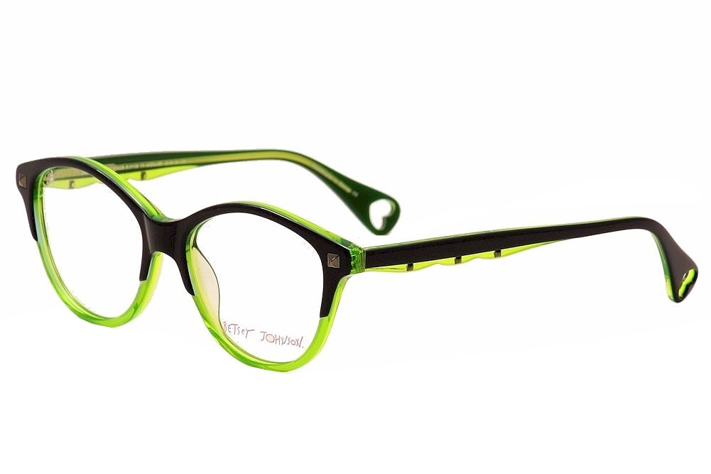 Eyeglass Frames Bjs : Betsey Johnson Eyeglasses Demure Confidence BJ0158 05 Lime ...