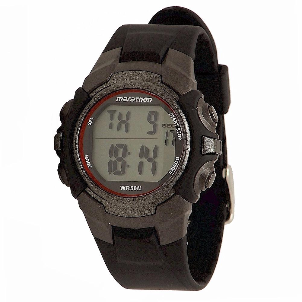 timex s marathon t5k6429j indiglo black silver digital