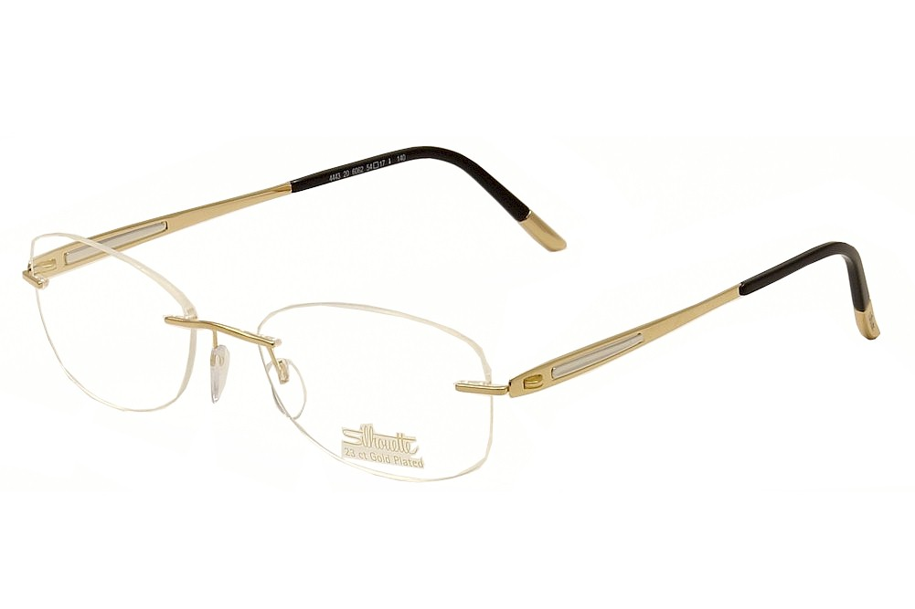 Silhouette Eyeglasses Finesse 4443 6062 23K Gold Plated ...