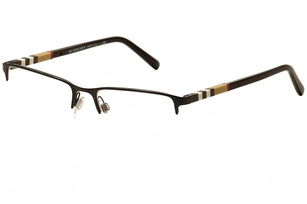 Burberry Glasses Half Frame : Burberry Mens Eyeglasses BE1282 BE/1282 1001 Black Half ...