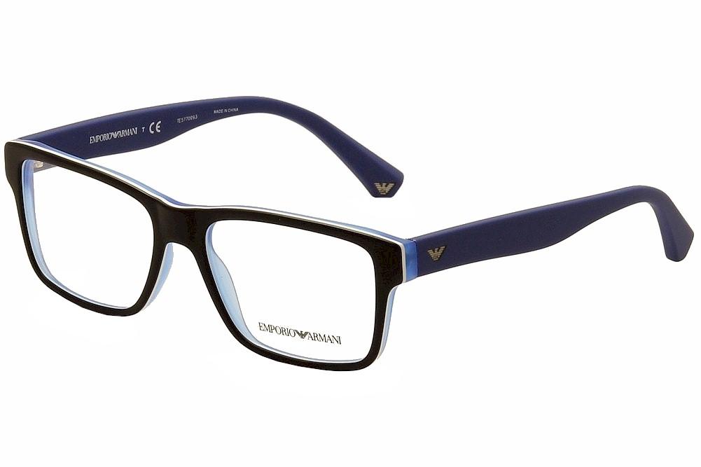 Armani Glasses Frames Blue : Emporio Armani Eyeglasses EA3059 3059 5392 Black/Matte ...