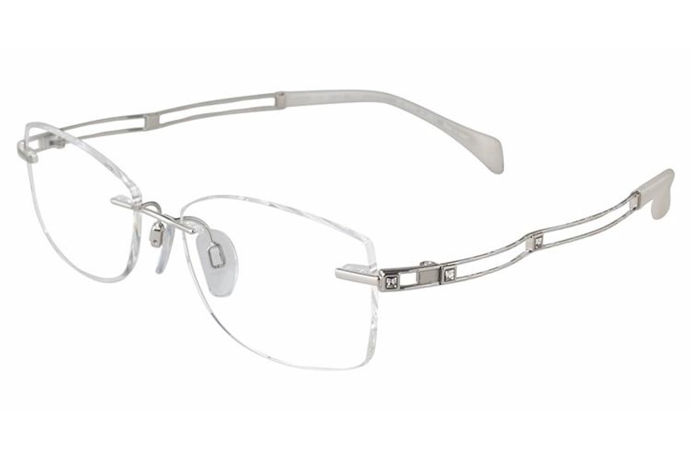 Line Art Rimless Eyeglasses : Charmant line art eyeglasses xl wp white