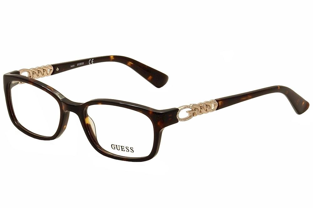 Guess Ladies Eyeglass Frames : Guess Womens Eyeglasses GU2558 GU/2558 050 Havana/Rose ...