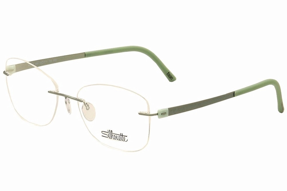 Rimless Eyeglass Frame Parts : Silhouette Eyeglasses Titan Accent Chassis 5452 6054 Mint ...