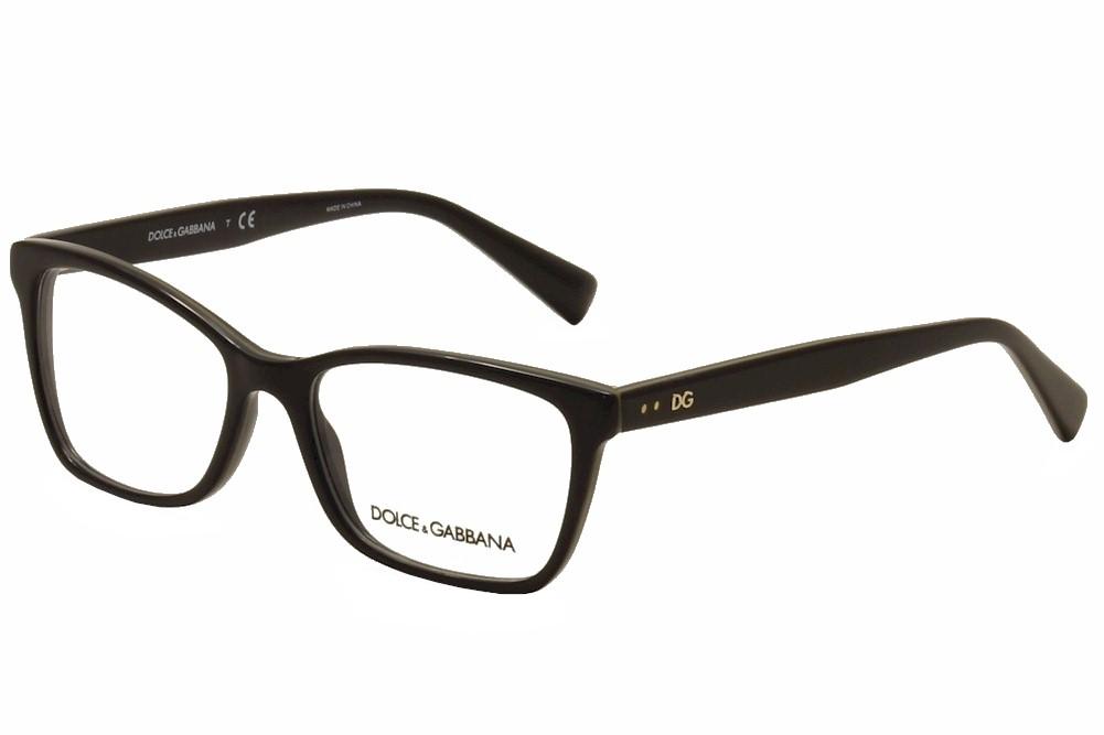 Dolce & Gabbana Eyeglasses D&G DG3245 DG/3245 3003 Black/Gold ...