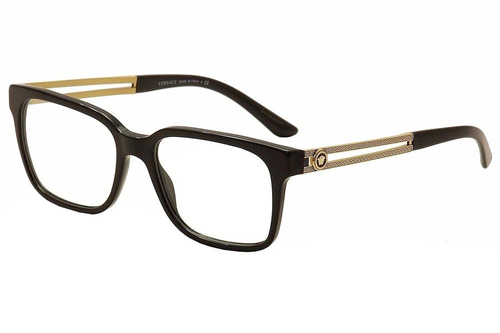 versace s eyeglasses ve3218 ve 3218 gb1 black gold