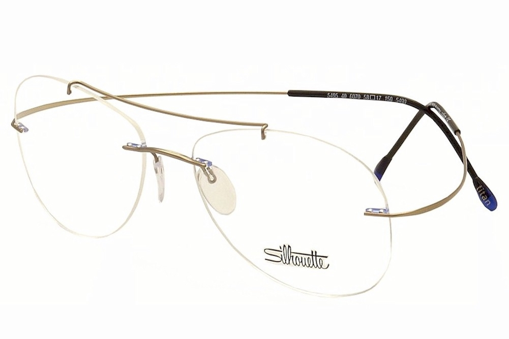 Rimless Glasses Compression Sleeves : Silhouette Eyeglasses Titan Minimal Art Pulse Chassis 5490 ...