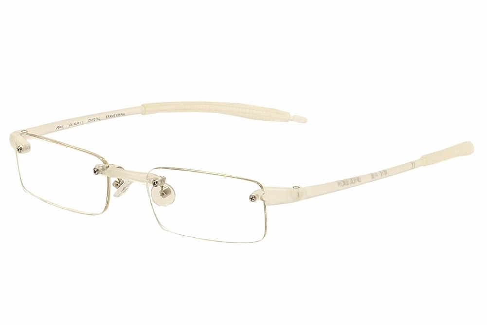 Rimless Glasses Polished Edges : VisuaLites Eyeglasses Vis1 Crystal Rimless Reading Glasses ...