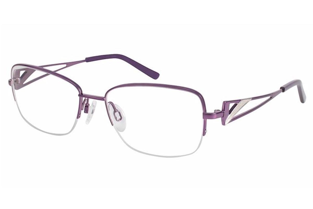 Titanium Half Rim Eyeglass Frames : Charmant Womens Eyeglasses TI12133 TI/12133 Titanium Half ...