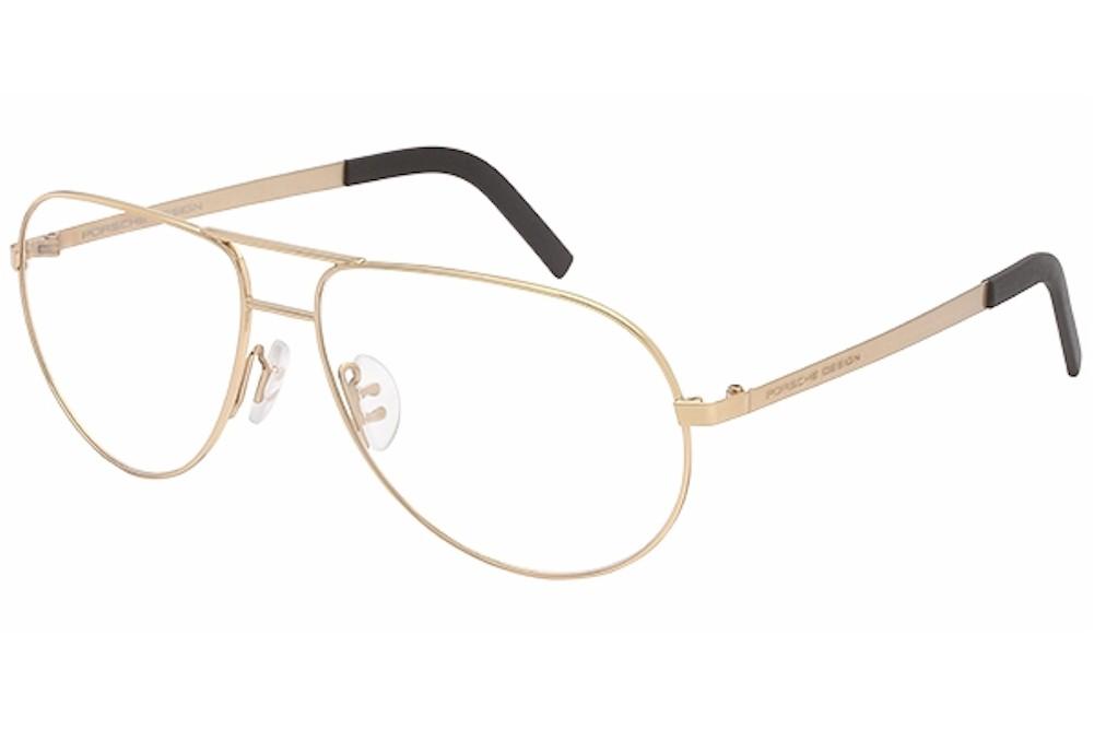 Designer Gold Eyeglass Frames : Porsche Design Mens Eyeglasses P8280 P8280 C Gold Full ...