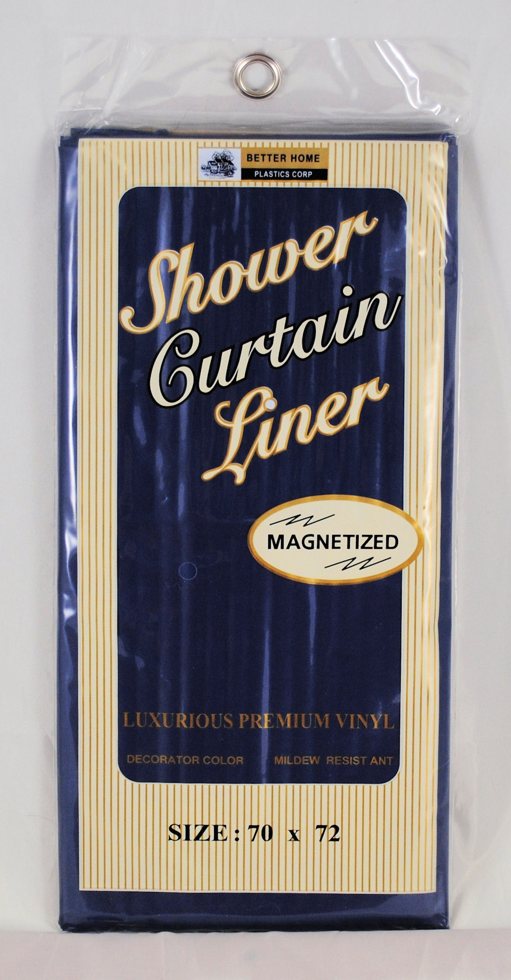 Shower Curtain Liner Navy Blue Mildew Resistant Vinyl EBay