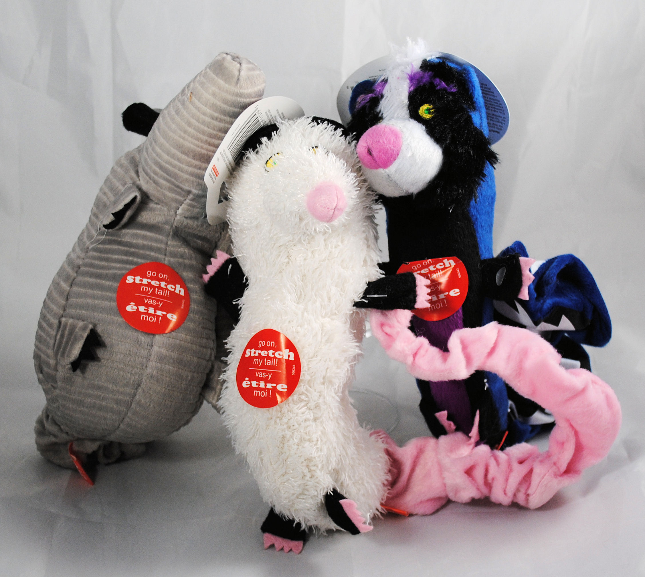 lot of 3 hartz backyard pests plush dog toys w squeaker ebay