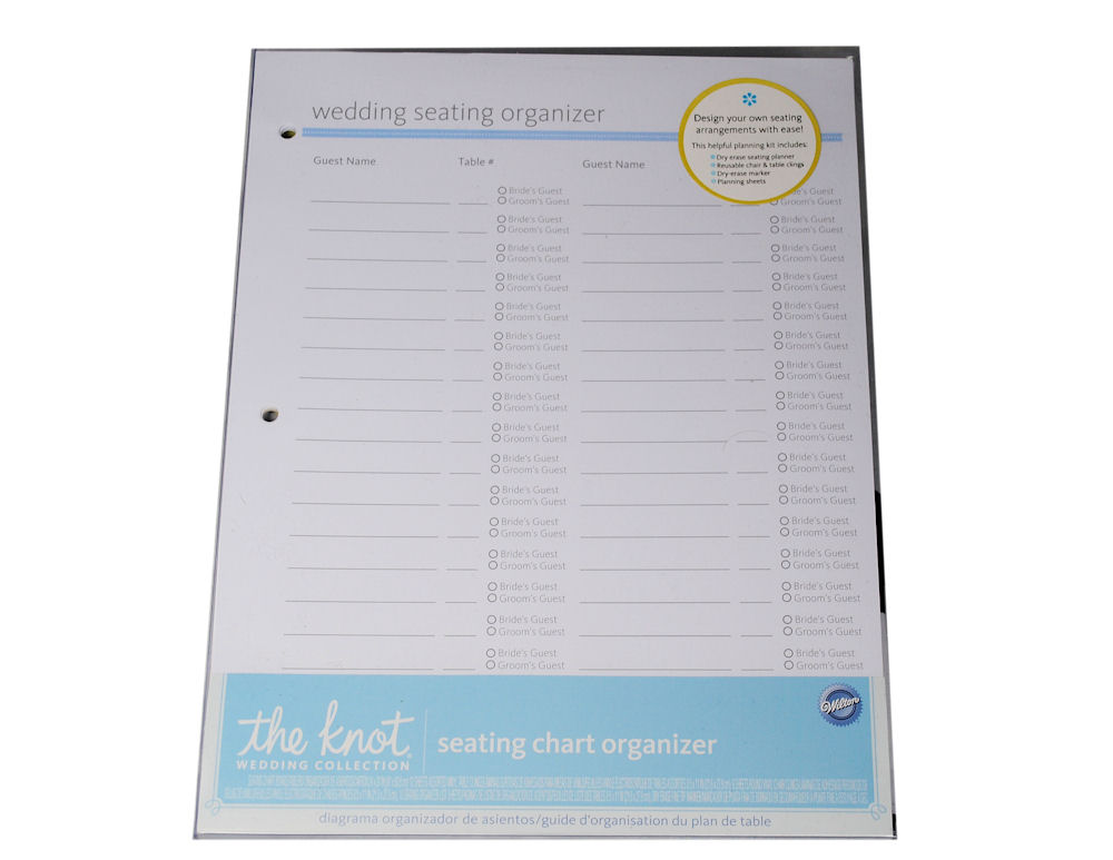 Details about Wilton The Knot Wedding Seating Chart Planner Organizer