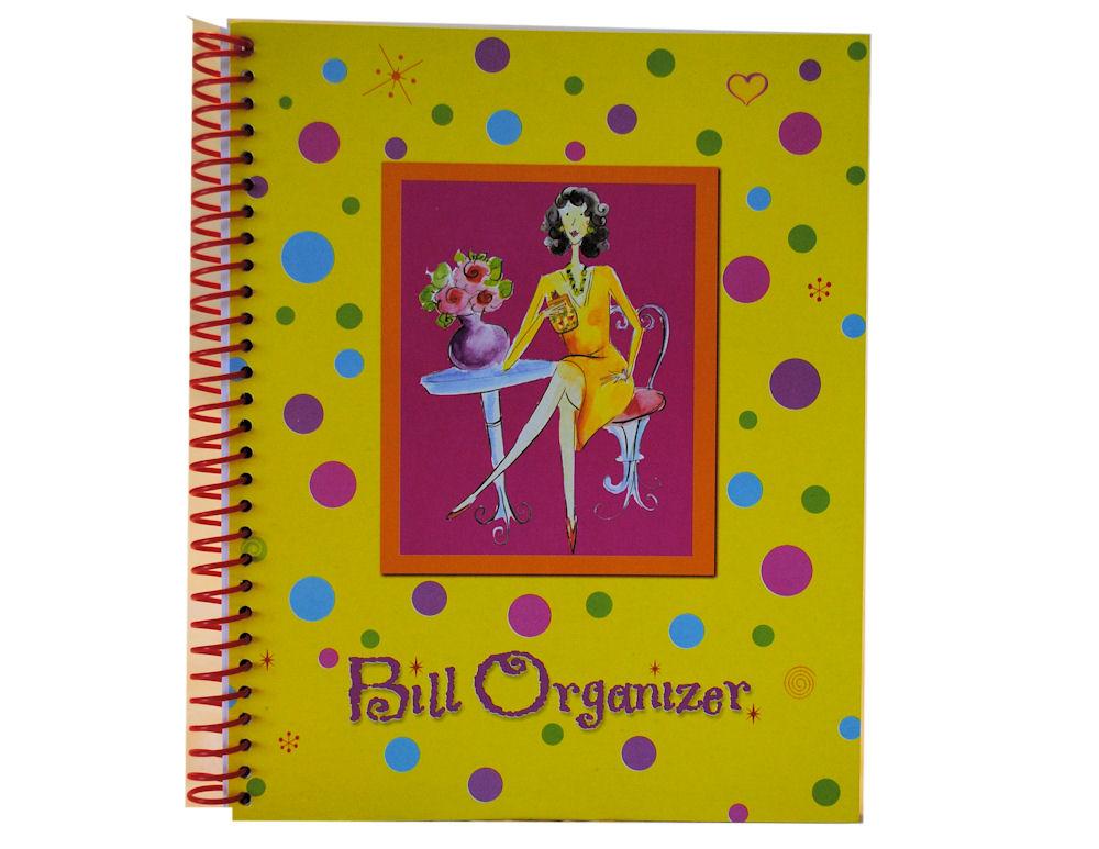 yellow bill receipt organizer monthly budget tracker ebay