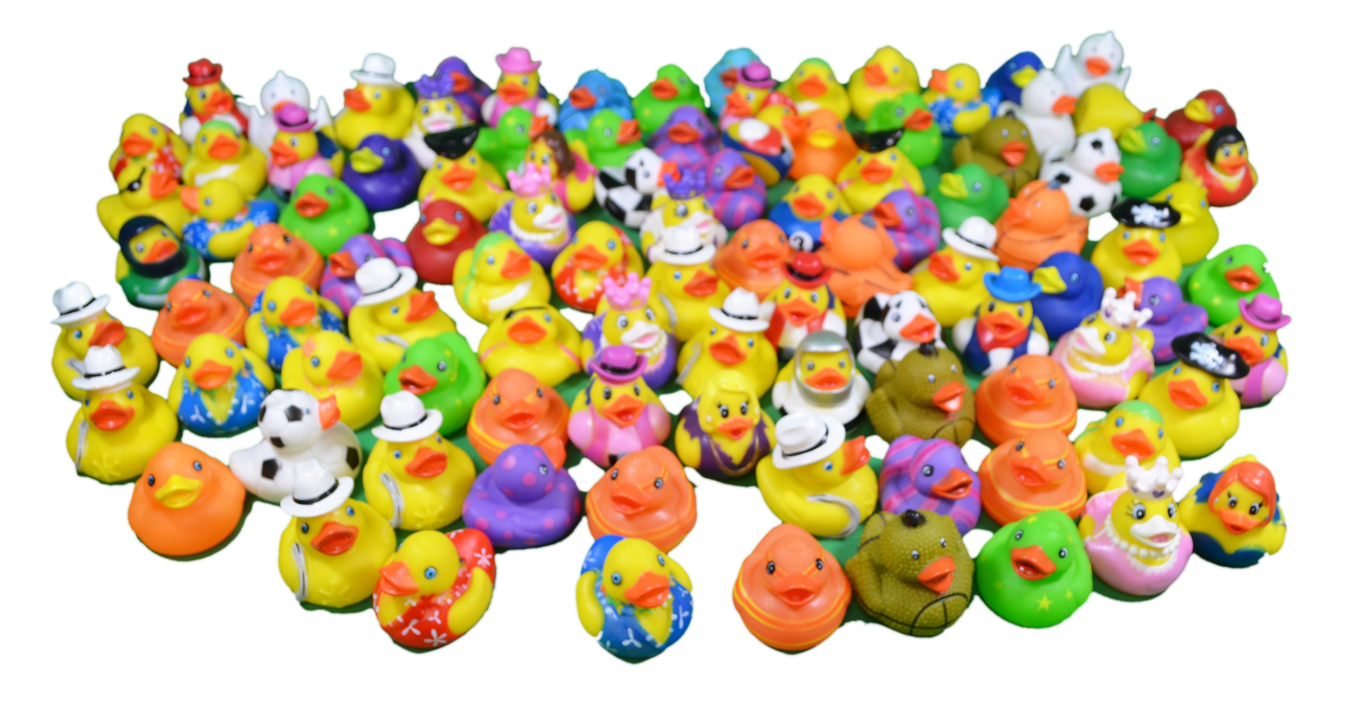 Rhode Island Novelty Assorted Mini Rubber Ducks - 100 Pack - 1 Super ...