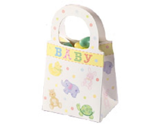 details about 12 ct wilton baby shower favor tote treat bags 1003 1055