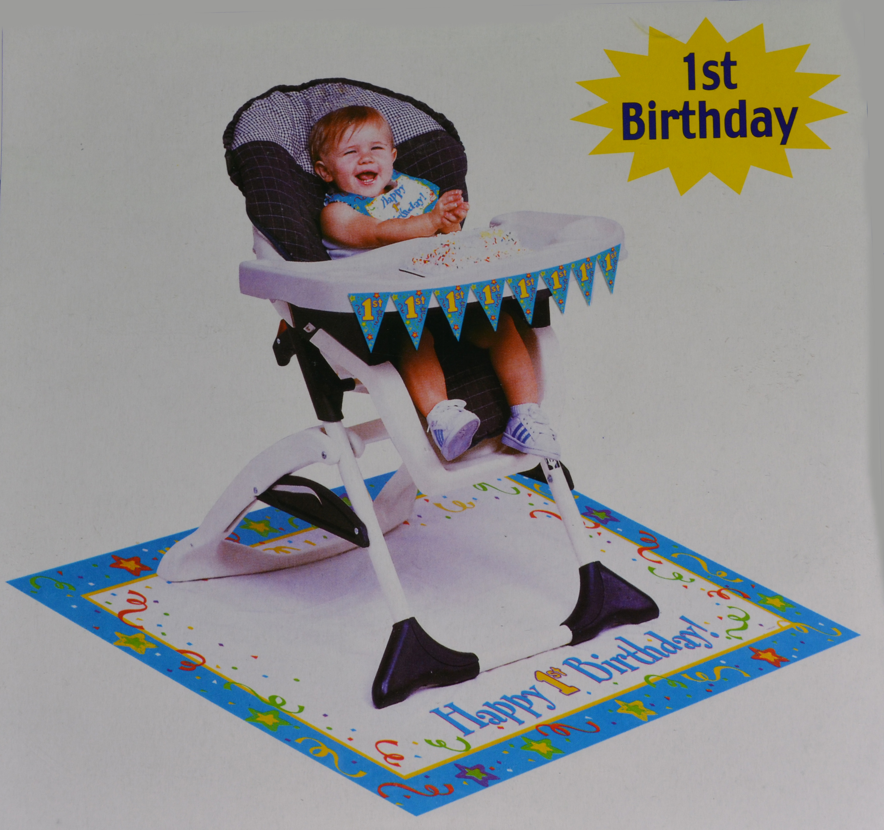 ... about Paper Art Boys Blue 1st Birthday High Chair Party Decoration Kit