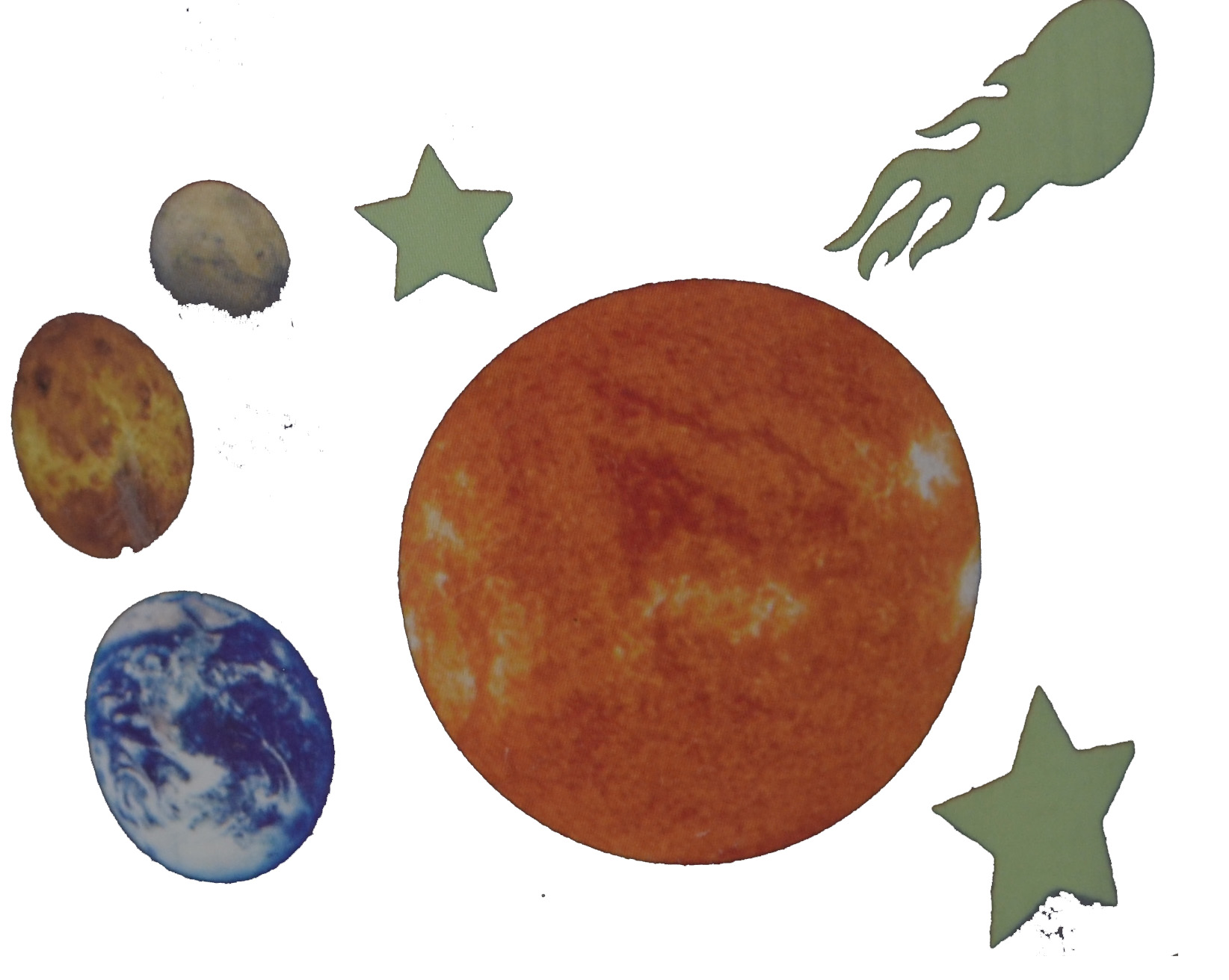 Black Board Basiccs Solar System  Wall Clings Outer Space Planets Sticker Repositional  Decals at Sears.com