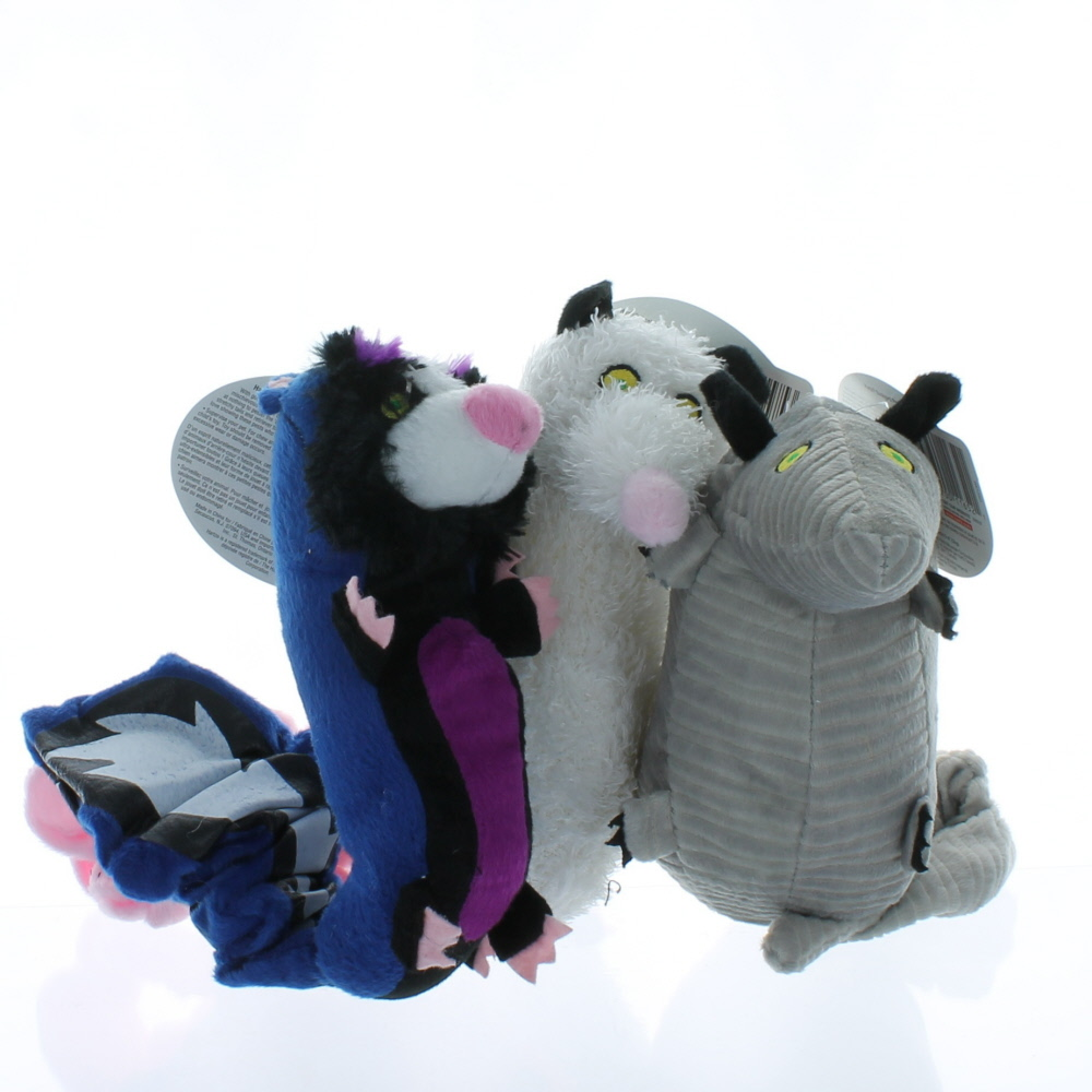 lot of 3 hartz backyard pests plush dog toys with squeaker